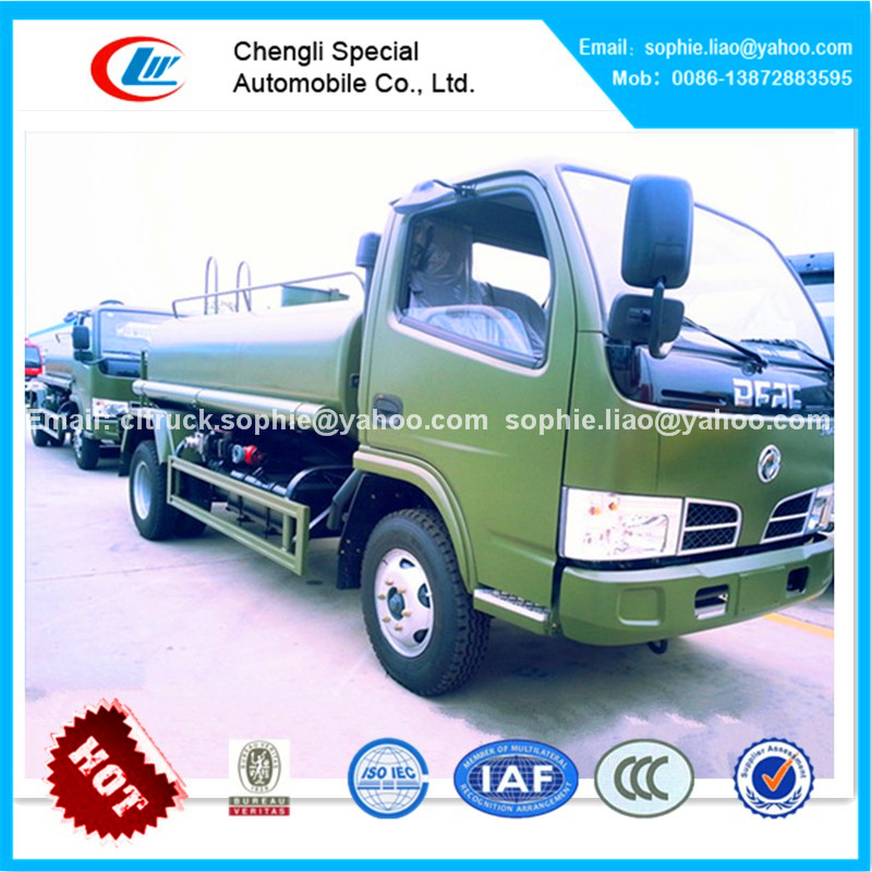 China hubei factory DFAC 4x4 small water truck dimensions 5000 liters