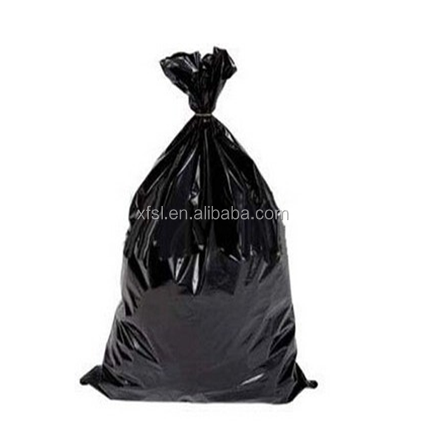 durable balck red plastic garbage bag on roll with logo
