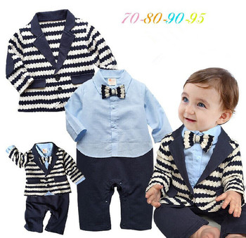 ce5384d4f Ht-jjb Fancy Soft Cute Wedding Boy Suit Wholesale Kids Romper Long ...