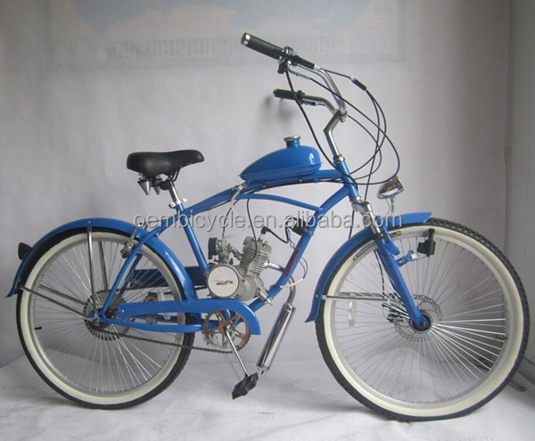 26 inch custom chopper beach cruiser gas motor bike/gas bicycle oem <strong>manufacturing</strong>