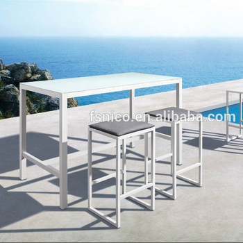 white metal bistro set nico outdoor furniture