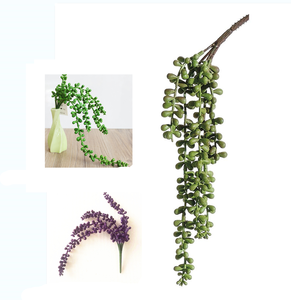 Artificial Flower Plant String of Pearl Hanging Spray in Green - 40/48c,