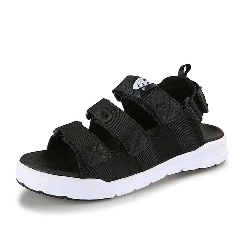 T-JULY Men's Sport Beach Sandals Summer Casual Ultra Light Soft Skid-Proof Shoes Waterproof Moccasin(10 D(M) US,Black)