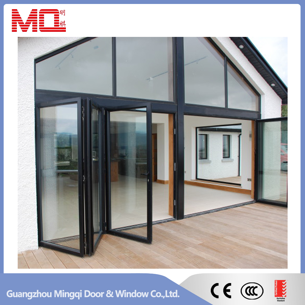 Attractive design bifolding glass patio door
