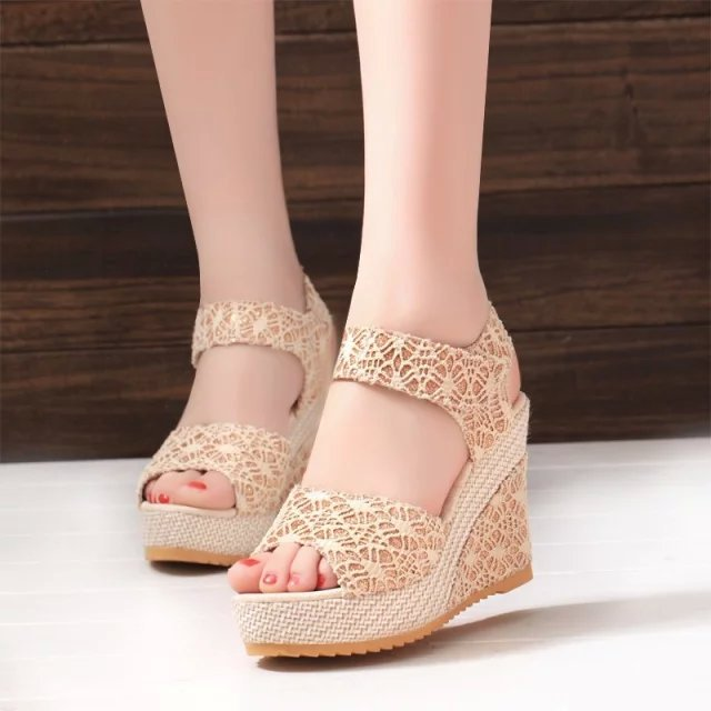 ee2fe81f41a4 35-40  Women Latest High Heel Sandals Ladies Wedge Sandals - Buy ...