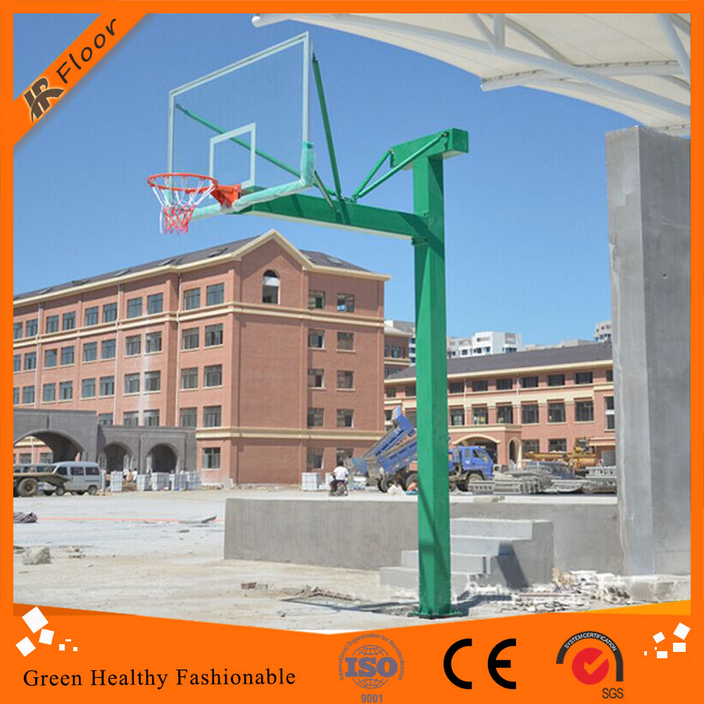 Fixed outdoor basketball stand/ portable basketball system