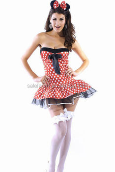 Sexy Adult Mickey Mouse Dress Costumes Adult Clothes Fancy Dress