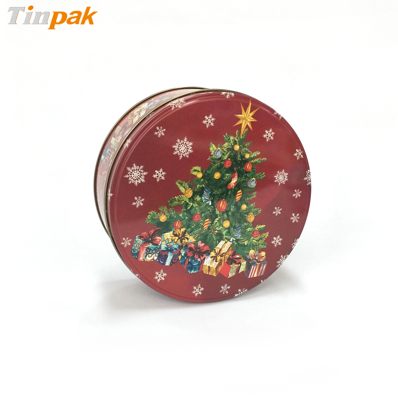 Wholesale customized Christmas cookie tins for gift