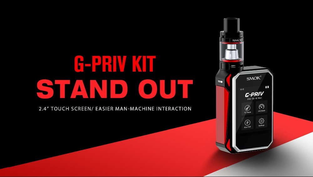 2016 new product 220W SMOK G-PRIV 220 Kit With 5ml TFV8 Baby