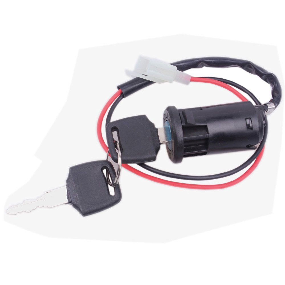 Buy Wingsmoto Ignition Key Switch Lock 2 Wire Electrical Scooter 2 ...