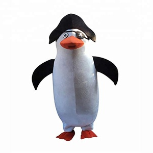 Halloween Penguin Pirate Adult Mascot Costume Promotional Mascot Costume
