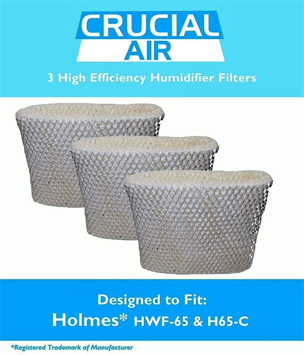3 Piece Holmes HWF65 & H65-C Humidifier Wick Filters, Part # HWF-65 - High Quality Holmes HFW-65 - HF206 humidifier Wick Filter Designed To Leave The Air In Your Home Crisp And Fresh (3)