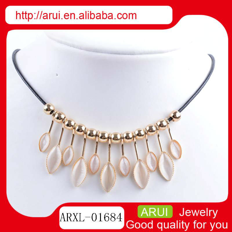 HOT SELLING best versatile to dress bangle agate necklace rose gold plating beaded rope necklace online