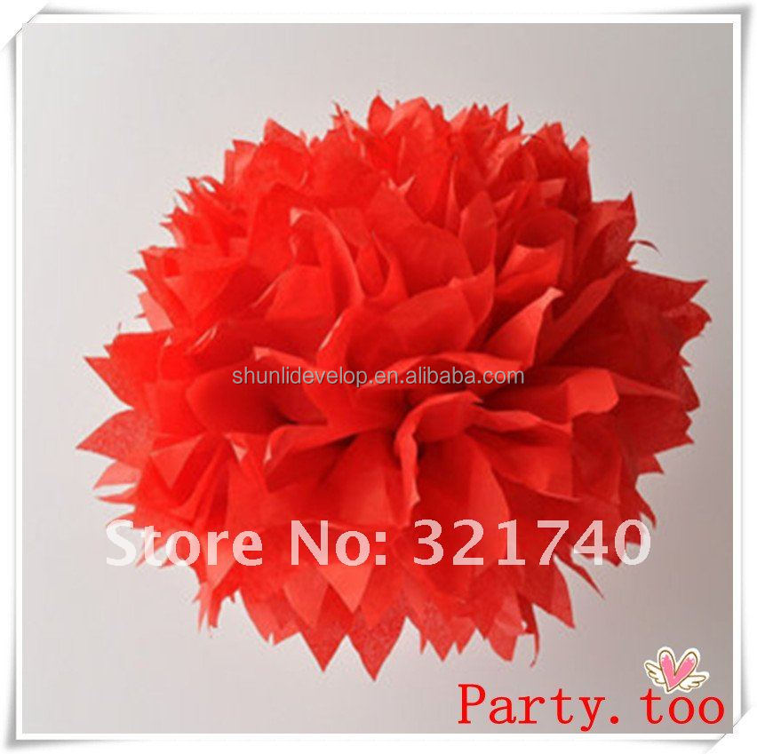 Chinese new year decoration tissue paper pompom happy birthday banner
