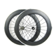 Carbon fiber alloy wheel for bike in china,80mm Clincher carbon aluminum brake surface bicycle wheel