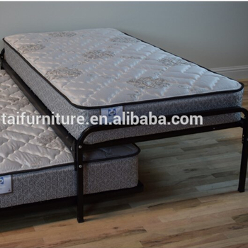 Duralink Metal Twin Pop Up Trundle Bed In Black By Humble Abode Bedroom Furniture Double Folding Sofa Beds