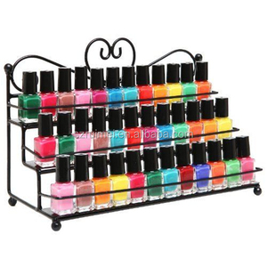 Customized 3-tier metal wire custom nail polish display cabinets