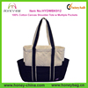 100% Cotton Canvas Promotion Fashion Tote Bag With Multiple Pockets