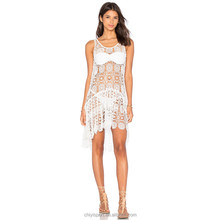 Sexy <span class=keywords><strong>strand</strong></span> kaftans voor vrouwen wit shorts strapless transparant kant <span class=keywords><strong>strand</strong></span> jurk