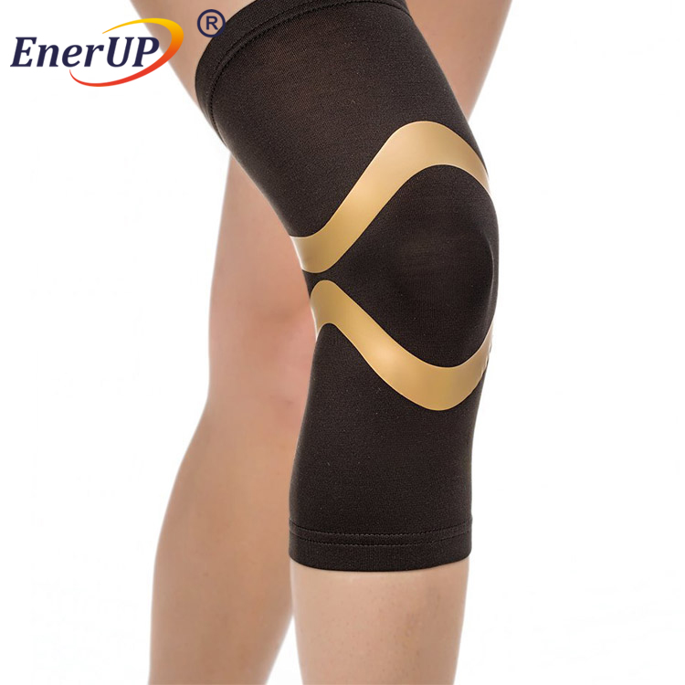 Copper men and women's Compression Knee Sleeve Support Relief in Black