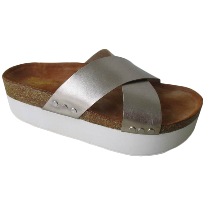 llegada baratos nueva suela zapatos gruesa planas 2016 Sandalias 5w4Txq6