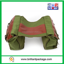 Heavy Duty Army Green Cotton Motorcycle Saddle bags