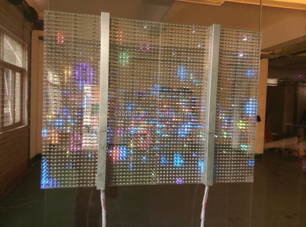 New Design Transparent Led Rgb Glass Window Display Buy