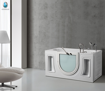 Cb Lfll Corner Bath Shower Combo Small Tub Walk In Bathtub With Elderly Seat Door