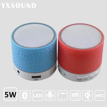 498503a7c65 Support TF FM radio HFQ3 LED Lights Speaker Portable wireless Stereo · mini fm  radio mp3 player