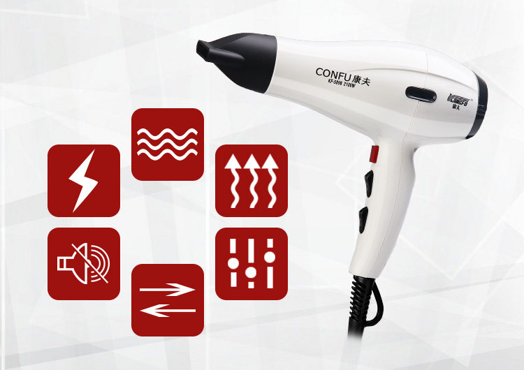 Compact Salon Barber Tools Brushless Motor  Hair Dryers  With Two Concentrator