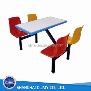 Olimy fiberglass dinning table customized in China