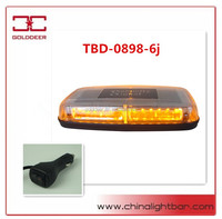 1W Epistar LED Amber Strobe Mini Bar Car Warning Lightbar with CE(TBD898-6j)