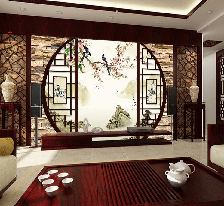 A Cina Kain Mulus Dinding Tv Latar Belakang Ruang Tamu Wallpaper Untuk Dekorasi Rumah