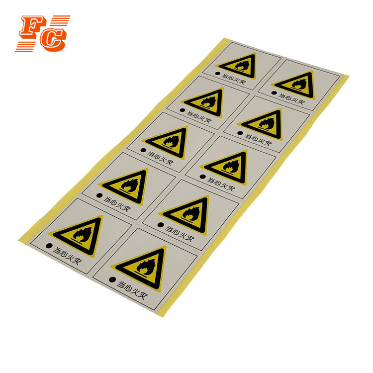 2PCS Danger High Voltage Electric Warning Safety Label Sign Decal Sticker  HK