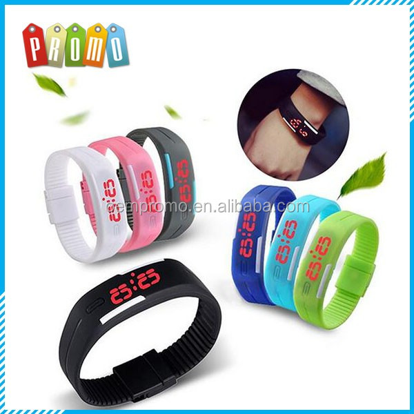Wholesale Silicone Band LED Sport Wristwatch