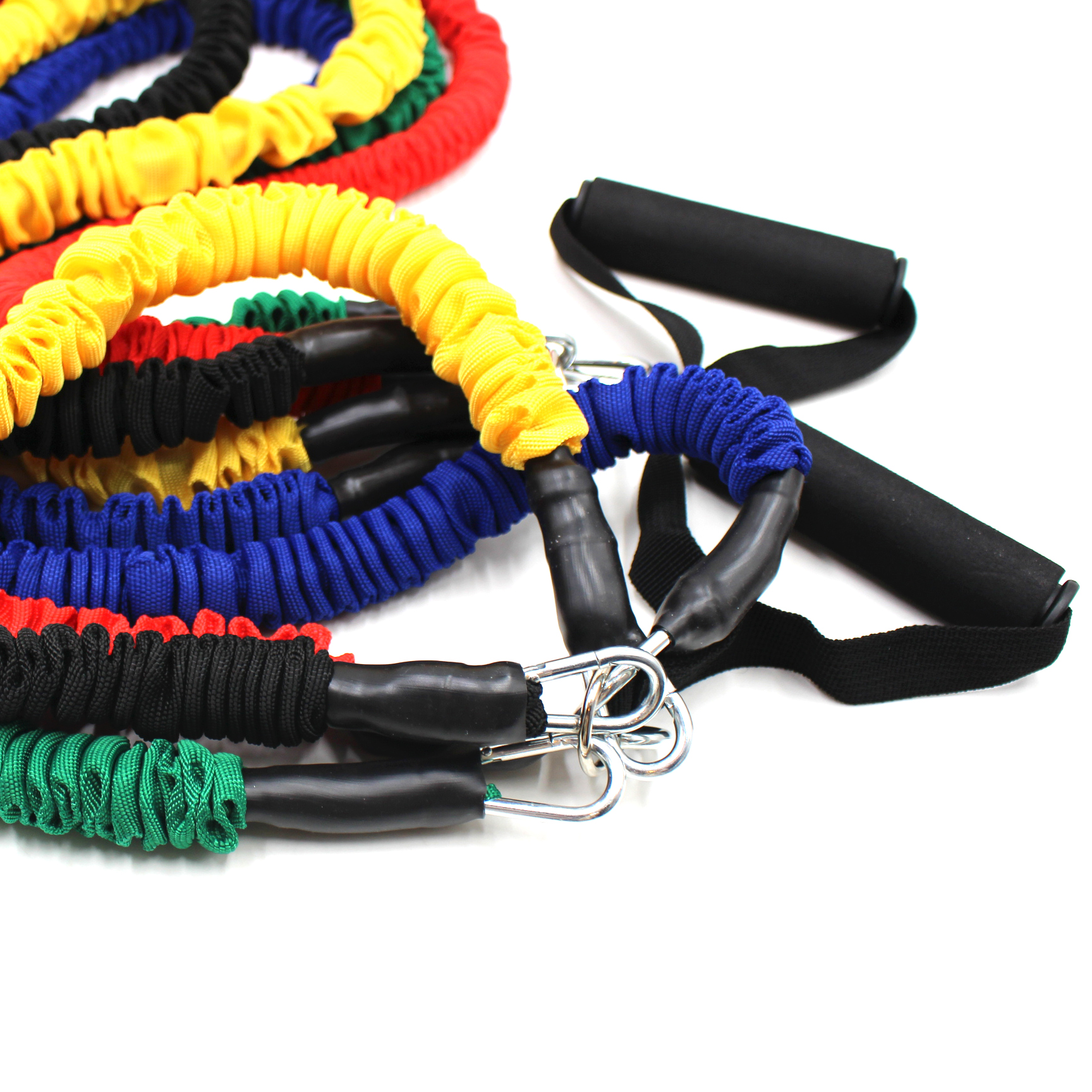 Resistance Bands 11 Pieces Exercise Elastic Bands Set 20lbs to 40lbs