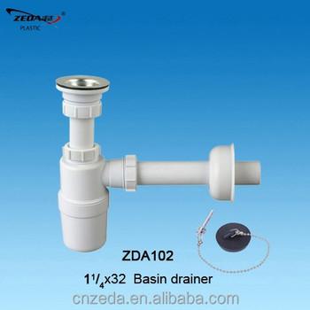 Kitchen sink drainer with strainer , SIPHON bottle trap,wash basin ...