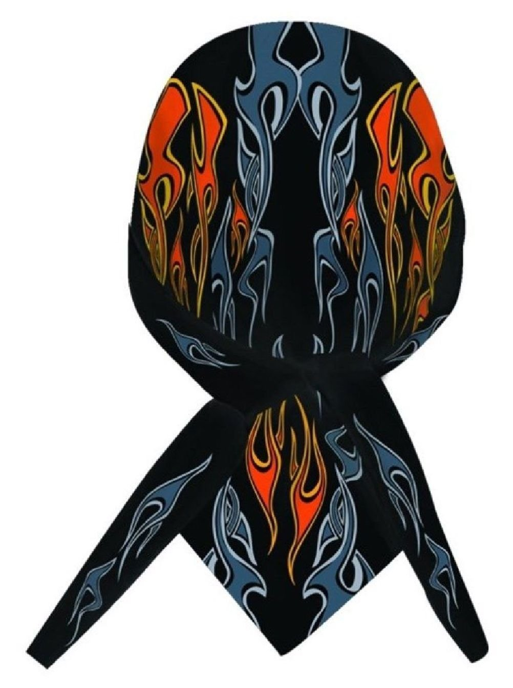 Get Quotations · Dare Devil Black Orange Flames Doo Rag Headwrap Skull Cap  Sweatband 095da070e