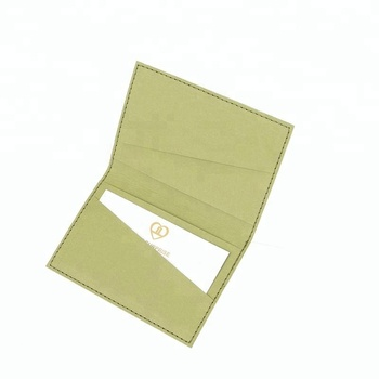 Promotional Kraft Paper Business Card Holder Eco Friendly Blank