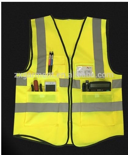 Hot selling with low price neon green safety vest safty jackets safty vest