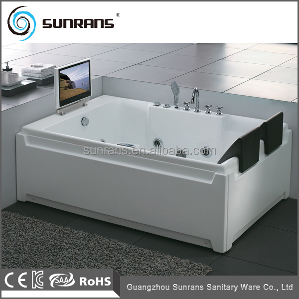 Luxury Two Person Freestanding Jet Whirlpool Bathtub With Tv (sr517 ...