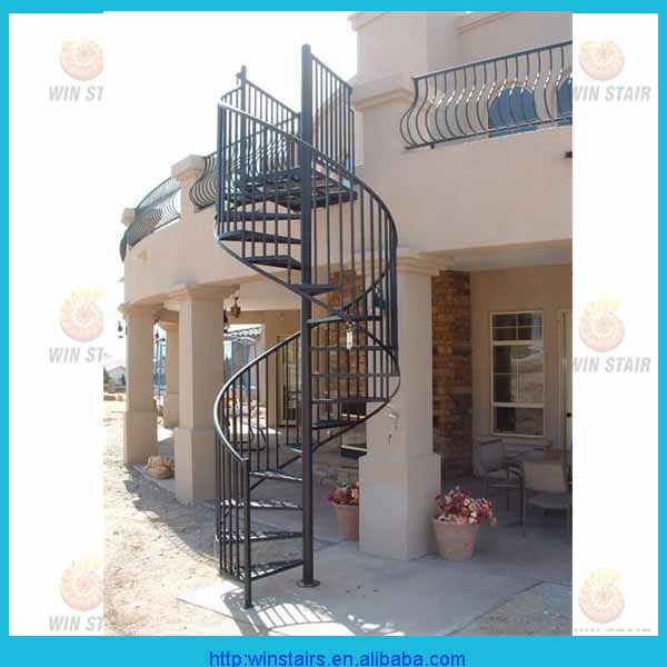 Iron Steel Spiral Staircase Outdoor Fire Escape Round Stair