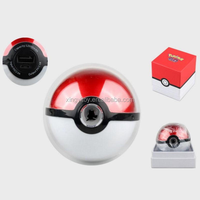 Japan anime figure Mobile Power Pack Pocket Monster /pokemon go Pokeball Mobile power bank 6000 MA
