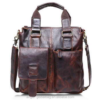 3bb064d6c174 Fashion retro vintage crazy horse genuine leather man shoulder bag handbag  manufactures china