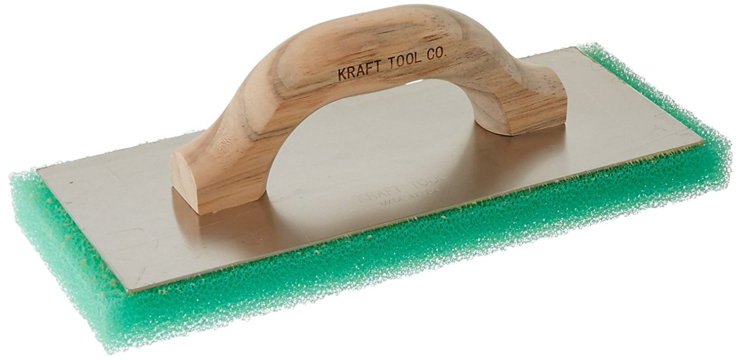 Kraft Tool PL603 Green Coarse Texture Float with Wood Handle, 12 x 5 x 1-Inch