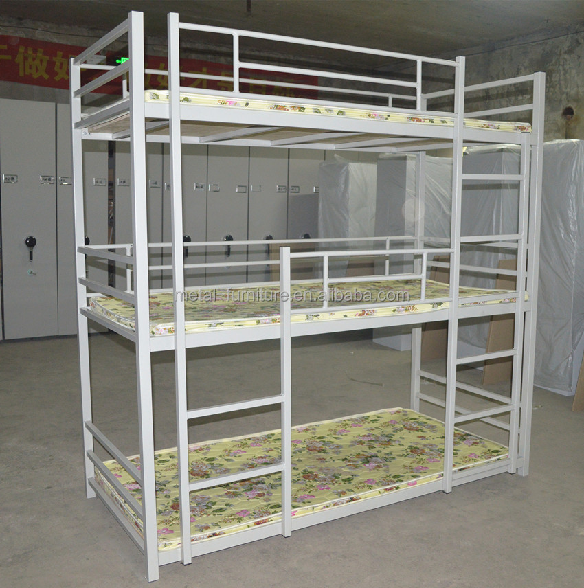 metal steel heavy duty army military strong hotel hostel adult kids single bunk bed