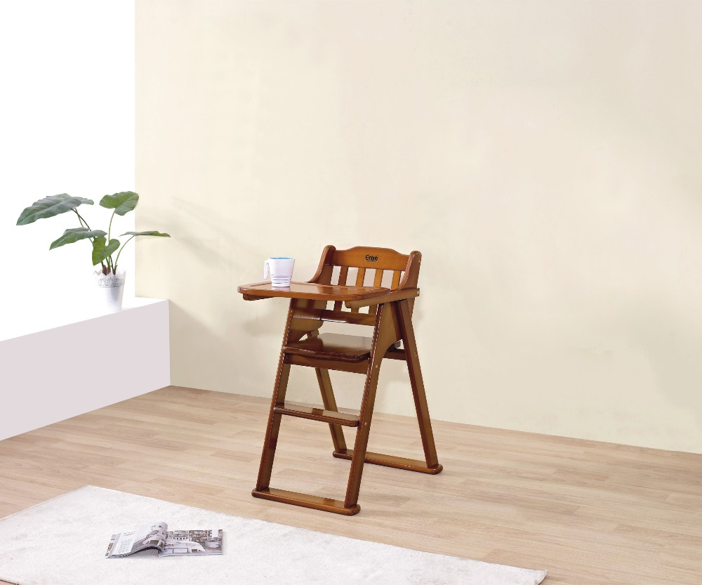 Floding wood high quality high chair baby feeding baby dinning chair in wood CY-16