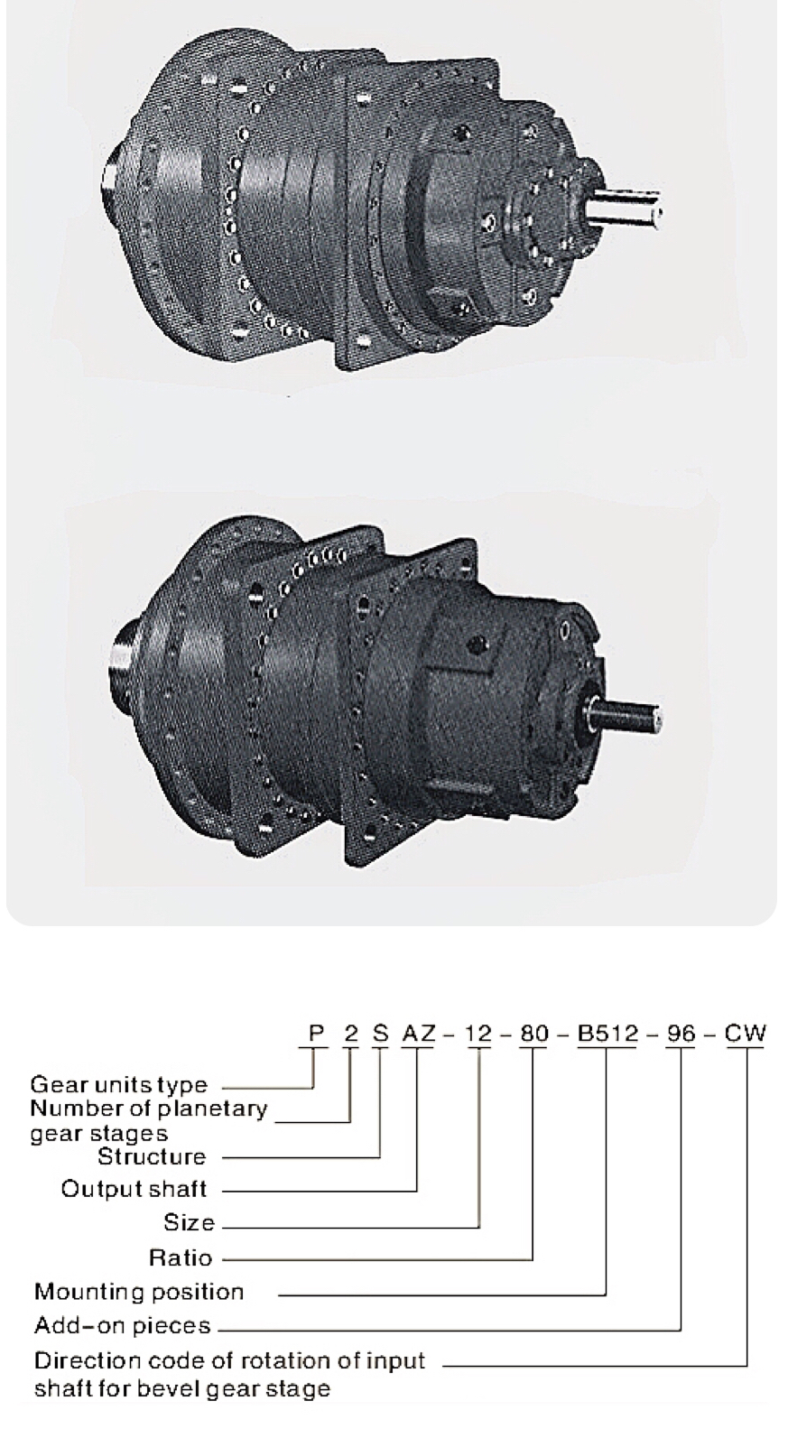Double shaft planetary gearbox gear reducer