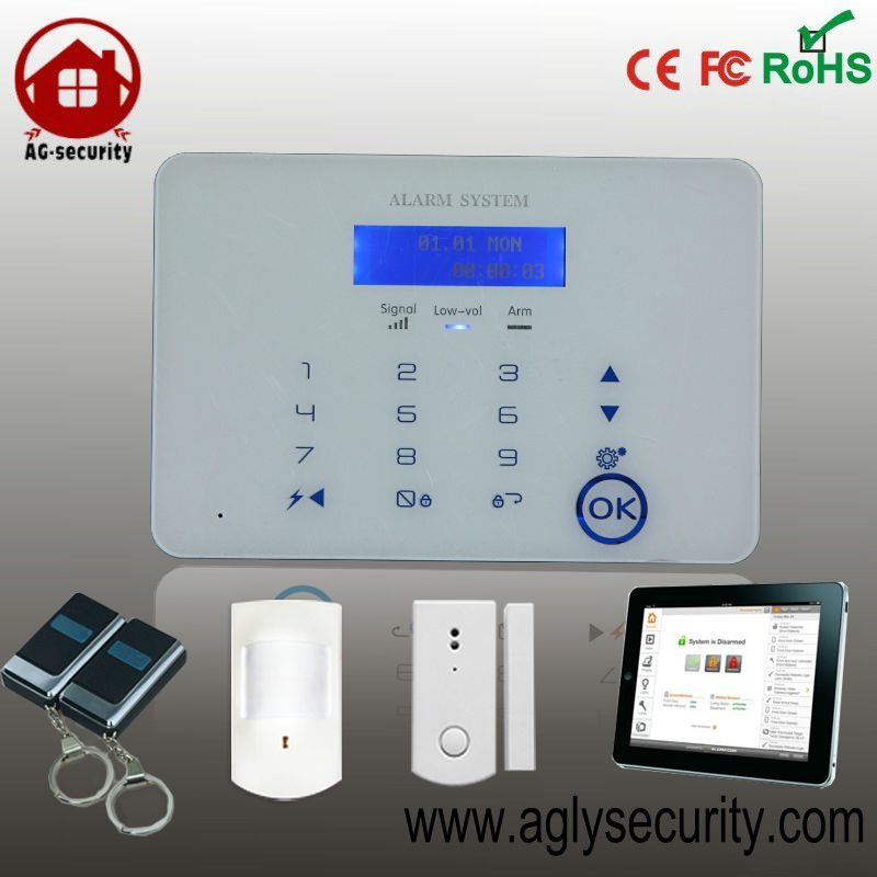 24 hours mobile app control GSM home security alarm central monitoring station