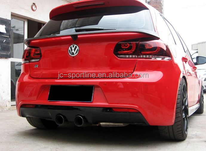 mk6 middle spoiler carbon fiber wing for volkswagen vw. Black Bedroom Furniture Sets. Home Design Ideas